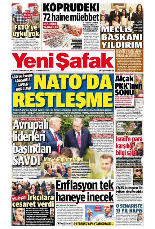 YENİ ŞAFAK - 13 Temmuz 2018