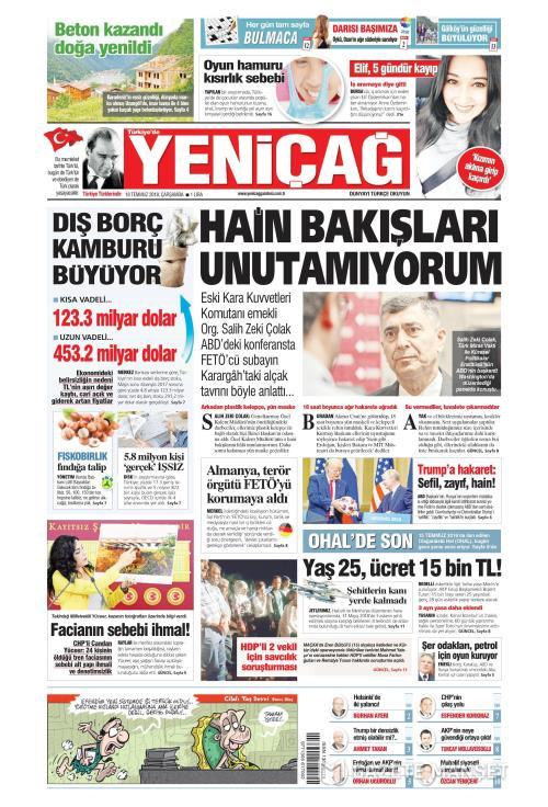 Türkiye'de Yeni Çağ - 18 Temmuz 2018