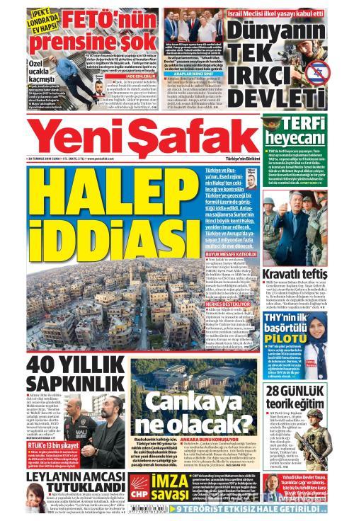 YENİ ŞAFAK - 20 Temmuz 2018