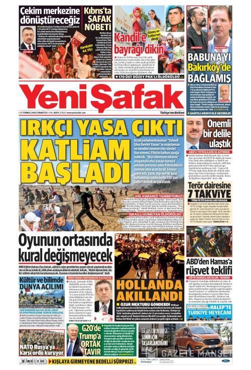 YENİ ŞAFAK - 21 Temmuz 2018
