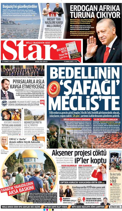 STAR - 23 Temmuz 2018