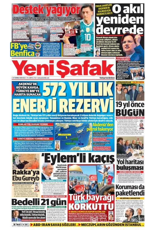 YENİ ŞAFAK - 24 Temmuz 2018
