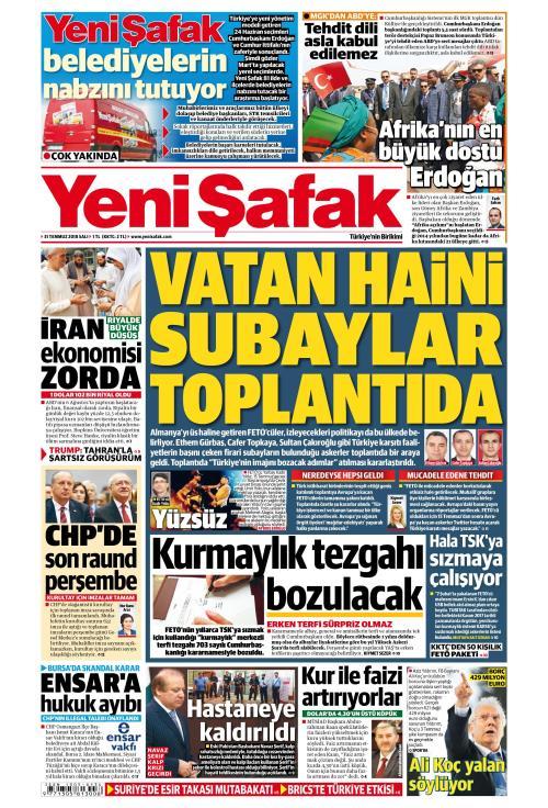 YENİ ŞAFAK - 31 Temmuz 2018