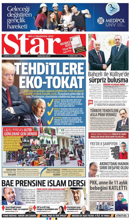 STAR - 01 Ağustos 2018