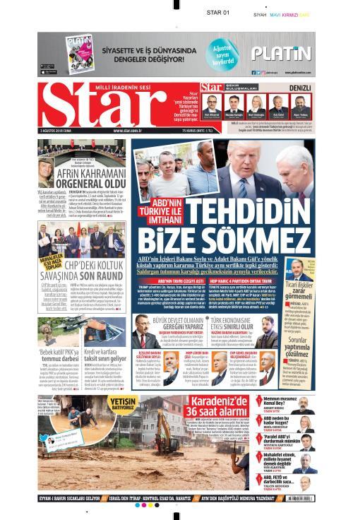 STAR - 03 Ağustos 2018