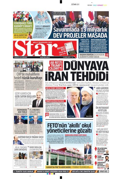STAR - 08 Ağustos 2018