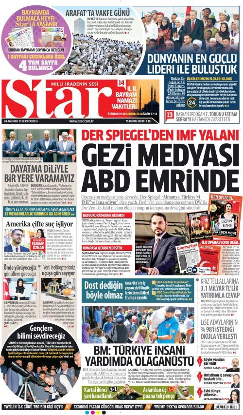 STAR - 20 Ağustos 2018