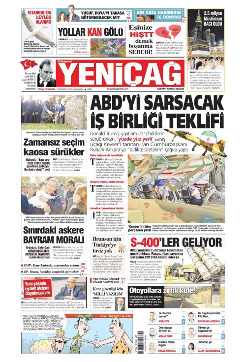 Türkiye'de Yeni Çağ - 22 Ağustos 2018