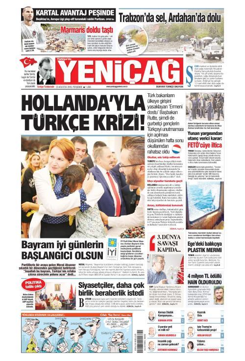 Türkiye'de Yeni Çağ - 23 Ağustos 2018