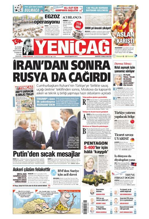Türkiye'de Yeni Çağ - 25 Ağustos 2018