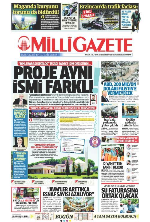 MİLLİ GAZETE - 26 Ağustos 2018