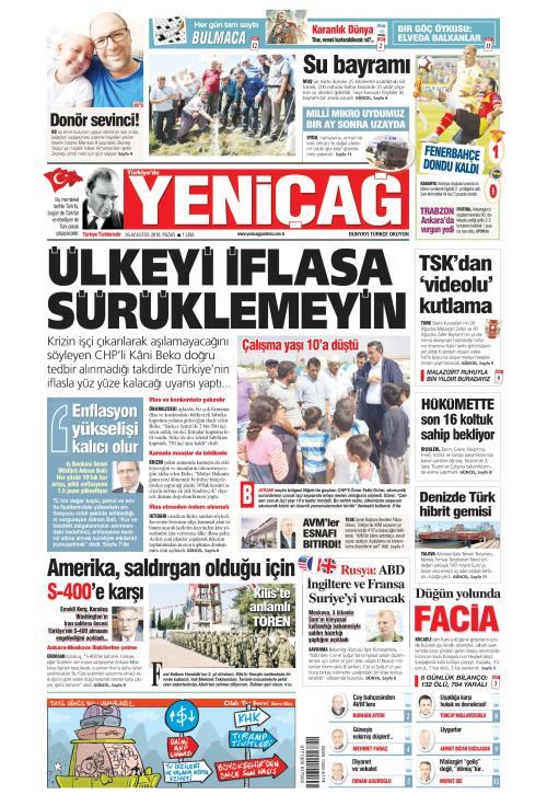 Türkiye'de Yeni Çağ - 26 Ağustos 2018