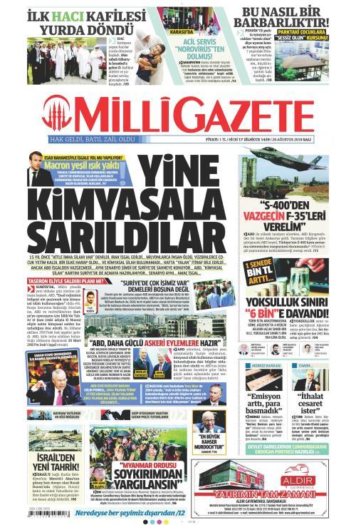 MİLLİ GAZETE - 28 Ağustos 2018