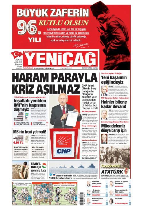 Türkiye'de Yeni Çağ - 30 Ağustos 2018