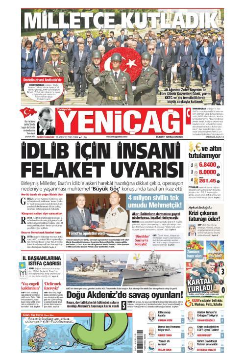 Türkiye'de Yeni Çağ - 31 Ağustos 2018