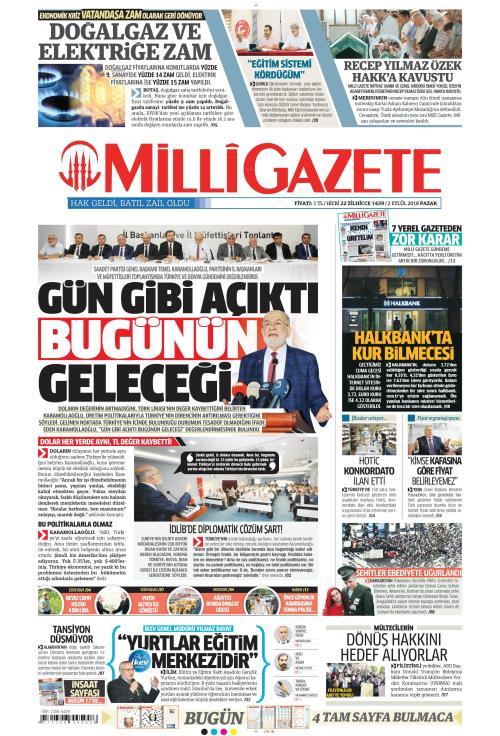 MİLLİ GAZETE - 02 Eylül 2018