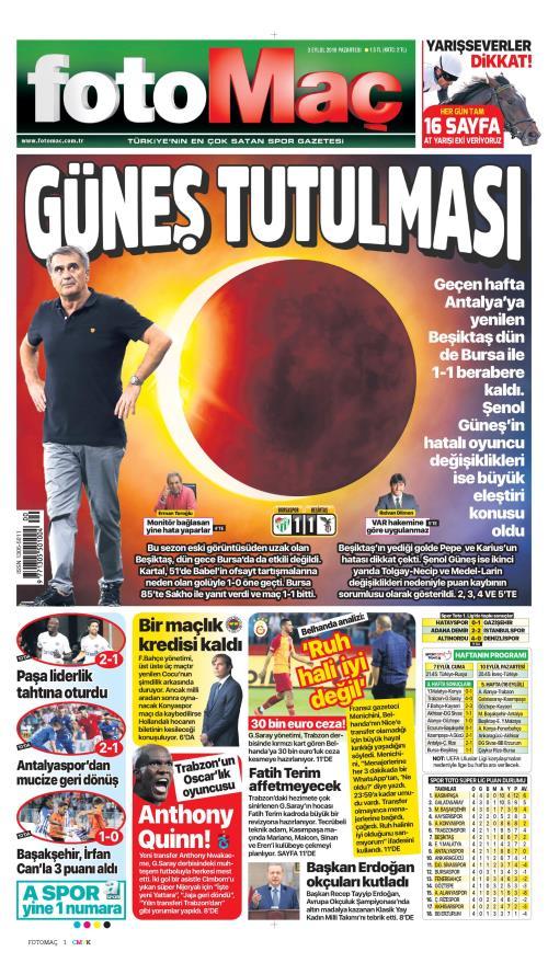 FOTOMAÇ - 03 Eylül 2018