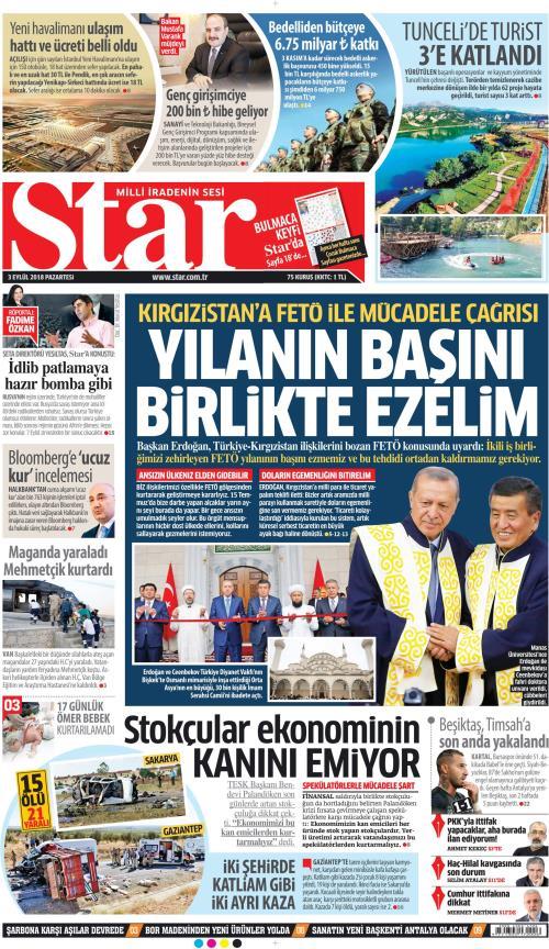 STAR - 03 Eylül 2018