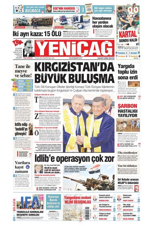 Türkiye'de Yeni Çağ - 03 Eylül 2018