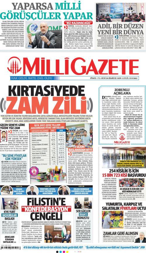 MİLLİ GAZETE - 04 Eylül 2018