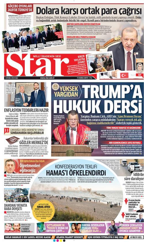 STAR - 04 Eylül 2018