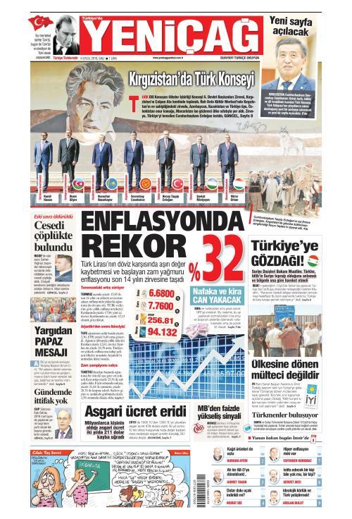 Türkiye'de Yeni Çağ - 04 Eylül 2018