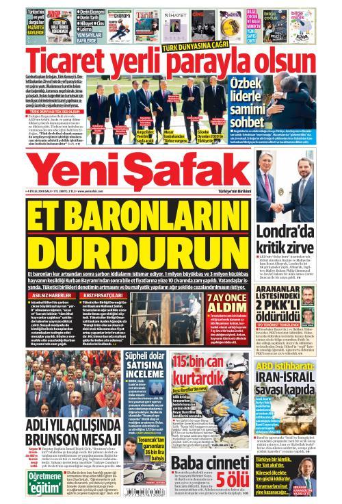 YENİ ŞAFAK - 04 Eylül 2018