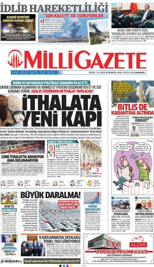 MİLLİ GAZETE - 05 Eylül 2018