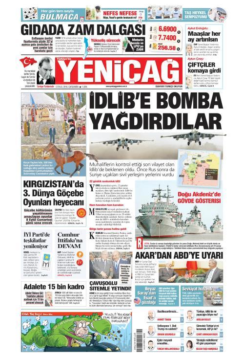 Türkiye'de Yeni Çağ - 05 Eylül 2018