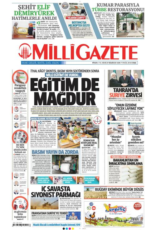 MİLLİ GAZETE - 07 Eylül 2018