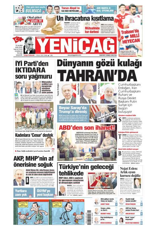 Türkiye'de Yeni Çağ - 07 Eylül 2018