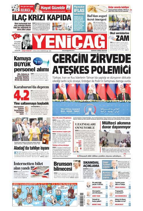 Türkiye'de Yeni Çağ - 08 Eylül 2018