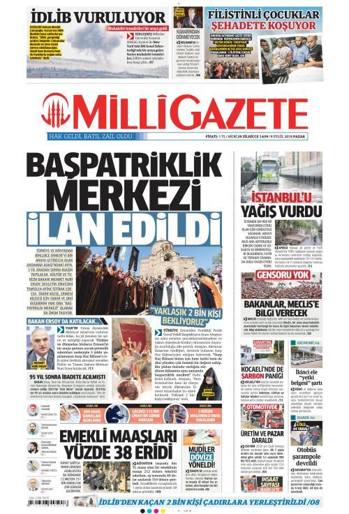 MİLLİ GAZETE - 09 Eylül 2018