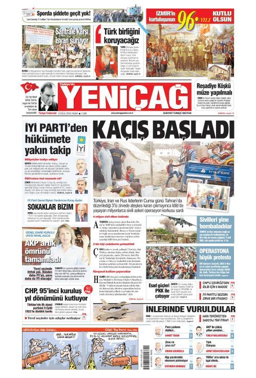 Türkiye'de Yeni Çağ - 09 Eylül 2018