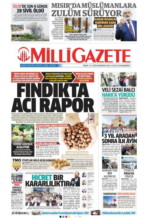 MİLLİ GAZETE - 10 Eylül 2018