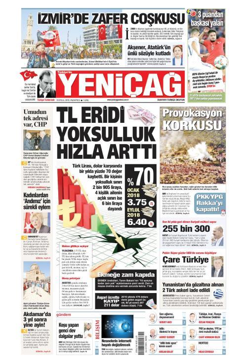 Türkiye'de Yeni Çağ - 10 Eylül 2018