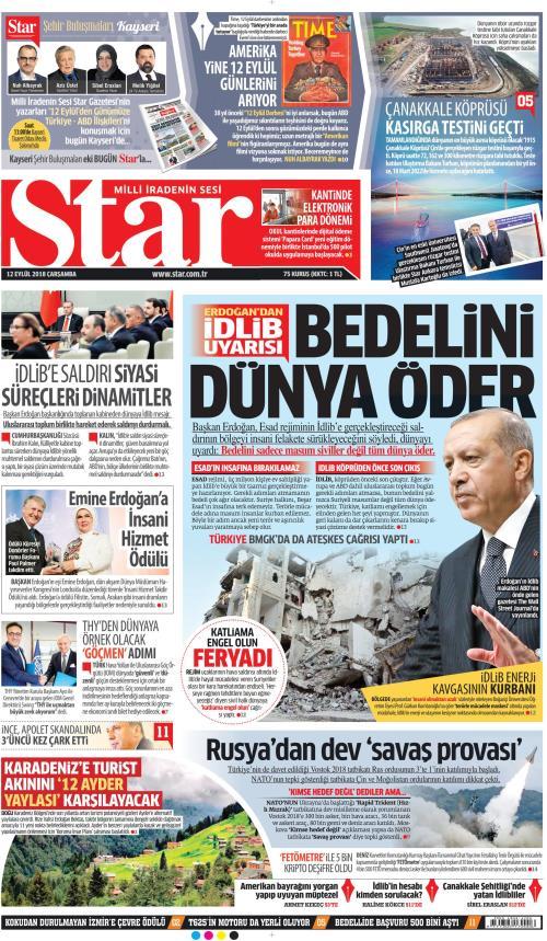 STAR - 12 Eylül 2018