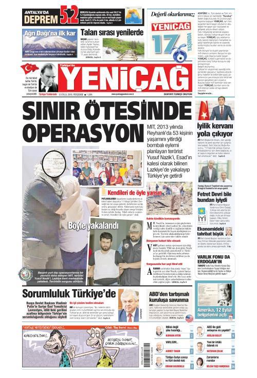 Türkiye'de Yeni Çağ - 13 Eylül 2018