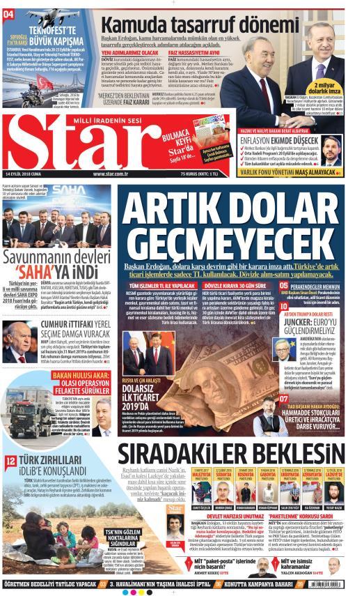 STAR - 14 Eylül 2018