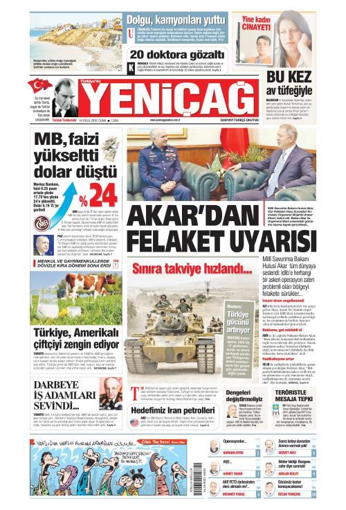 Türkiye'de Yeni Çağ - 14 Eylül 2018