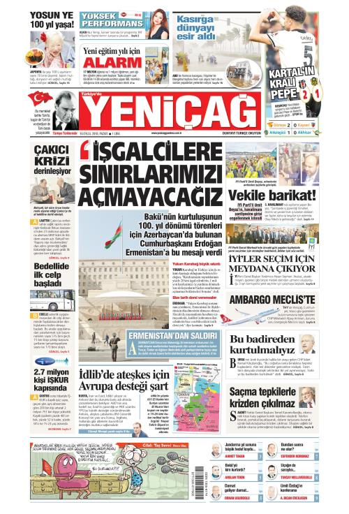 Türkiye'de Yeni Çağ - 16 Eylül 2018