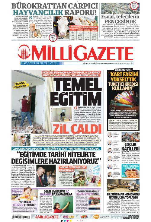 MİLLİ GAZETE - 17 Eylül 2018