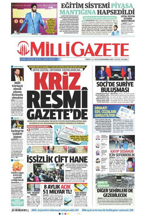MİLLİ GAZETE - 18 Eylül 2018