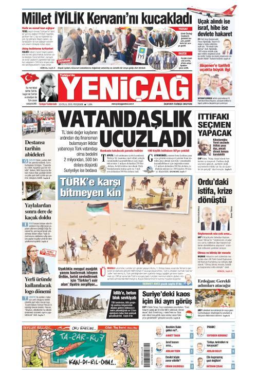 Türkiye'de Yeni Çağ - 20 Eylül 2018