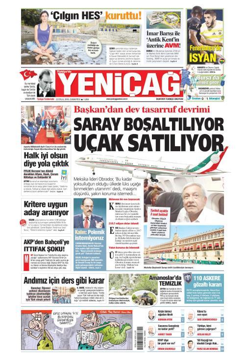 Türkiye'de Yeni Çağ - 22 Eylül 2018