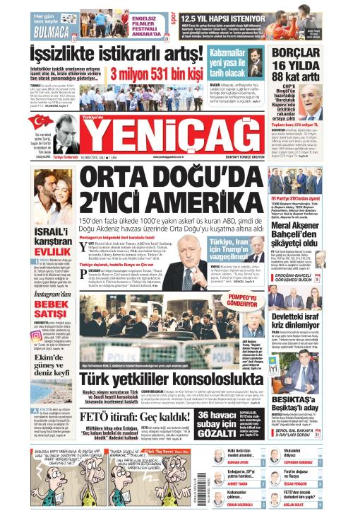Türkiye'de Yeni Çağ - 16 Ekim 2018