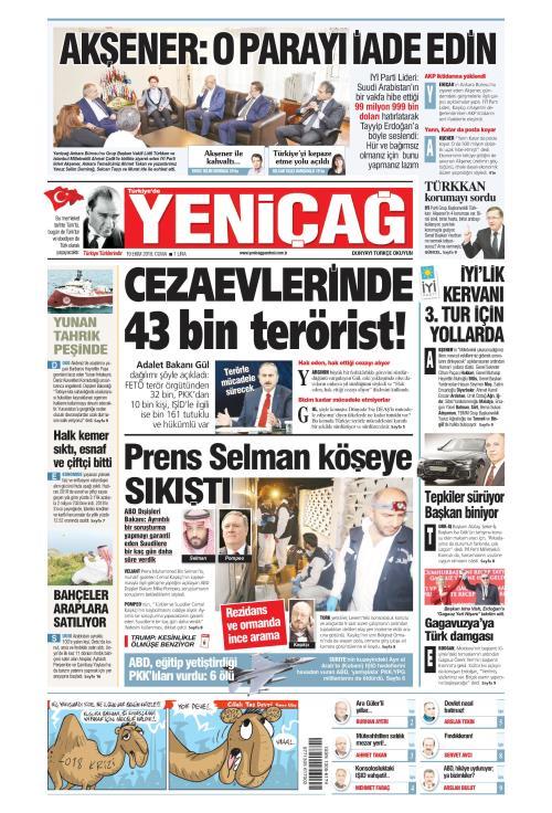 Türkiye'de Yeni Çağ - 19 Ekim 2018
