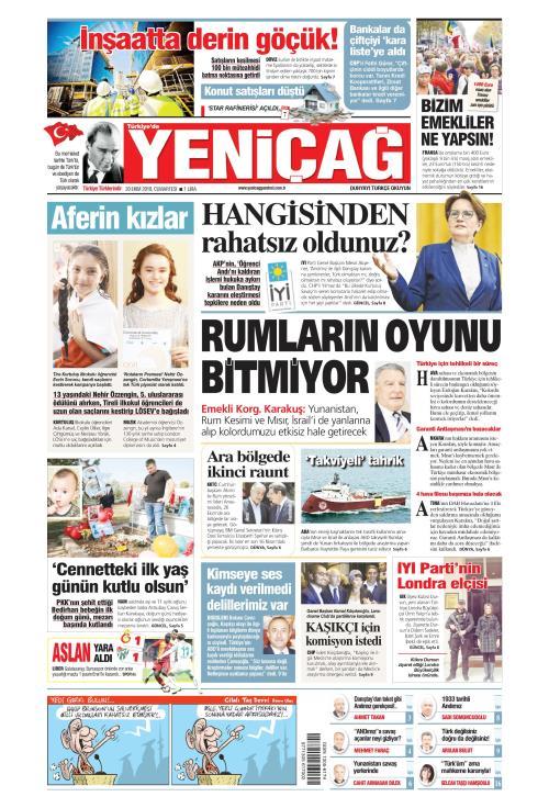 Türkiye'de Yeni Çağ - 20 Ekim 2018