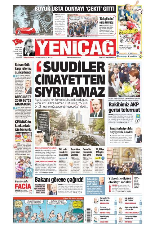 Türkiye'de Yeni Çağ - 21 Ekim 2018