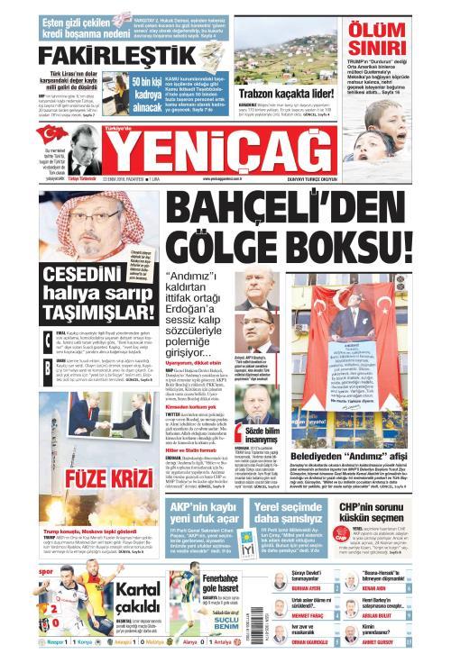 Türkiye'de Yeni Çağ - 22 Ekim 2018